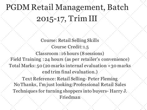 retailsellingskillssession 1 introduction to retail