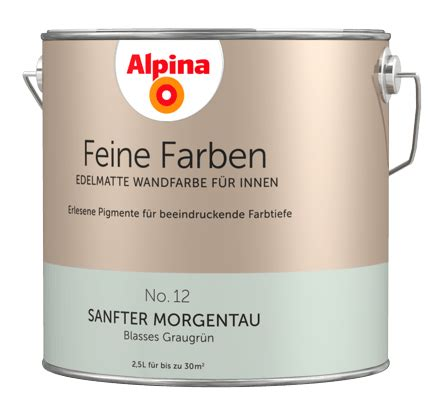 sanfter morgentau alpina feine farben edelmatte wandfarben in gr 252 n alpina