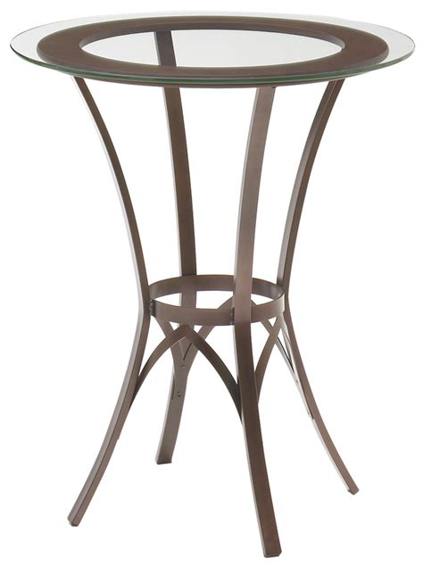 amisco glass dining table amisco dinette bar height pub table with glass