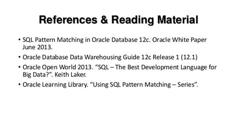 pattern matching operator in oracle sql pattern matching in oracle 12c