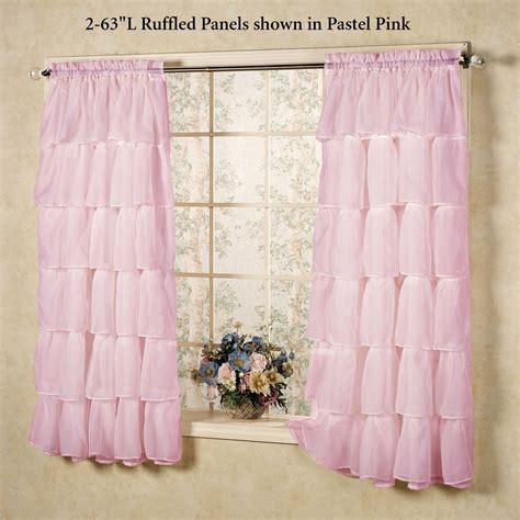 ruffled sheer curtains gypsy sheer voile ruffled window treatment
