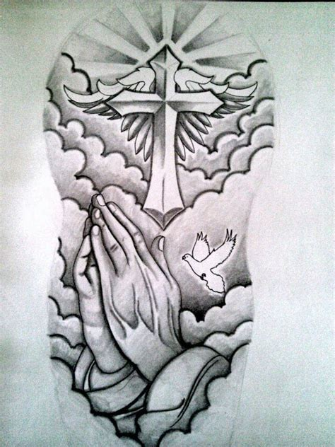 half sleeve tattoo with cross religious sleeve tatouage sleeve