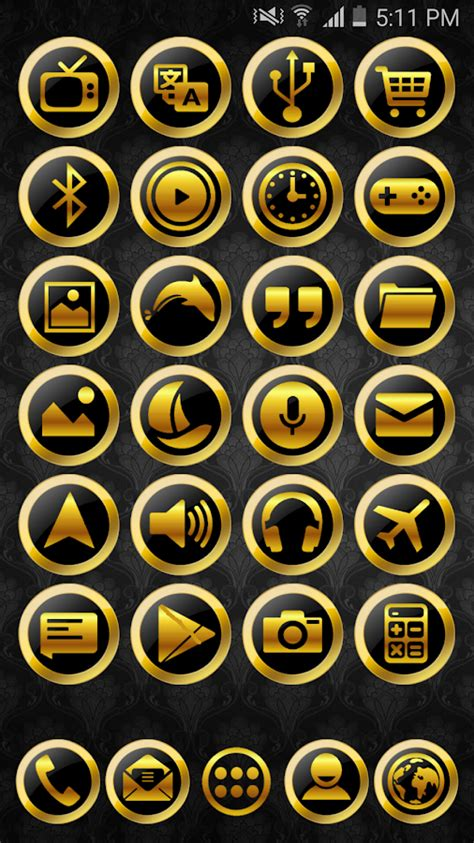 gold icon themes 10 best nova launcher themes icon packs 2018