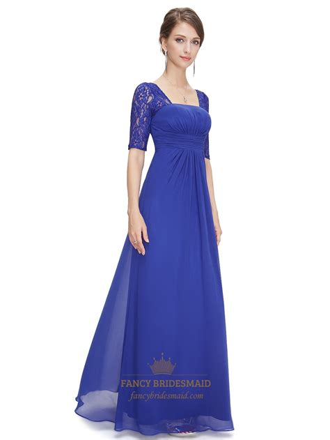 Royal Blue Bridesmaid Dress by Royal Blue Chiffon Wedding Bridesmaid Dress With