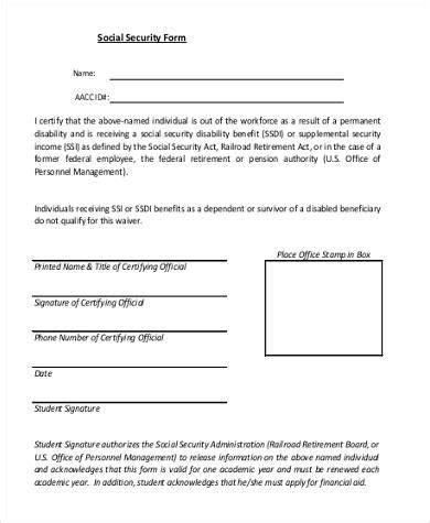 printable version social security disability application social security application form sles 7 free