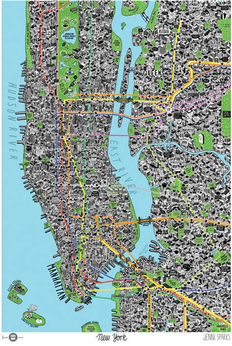 map of new york city landmarks map of new york city by sparks