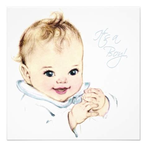 Boy Vintage Baby Shower by Baby Blue Baby Boy Shower 5 25x5 25 Square Paper