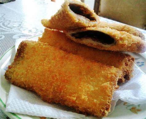 cara membuat roti malkist goreng inilah cara membuat roti tawar goreng coklat yang mudah
