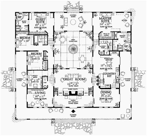 compound floor plans this floor plan can be modified into the spanish style