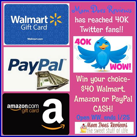 25 Amazon Gift Card Walmart - 40 paypal walmart or amazon gift card giveaway ends 1 25 optimistic mommy