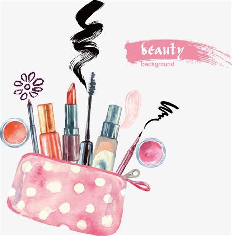 imagenes de mac makeup hand painted cosmetics cartoon vector illustration png