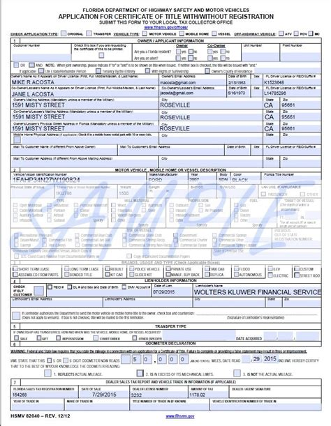 u form vehicle title form 130 u images