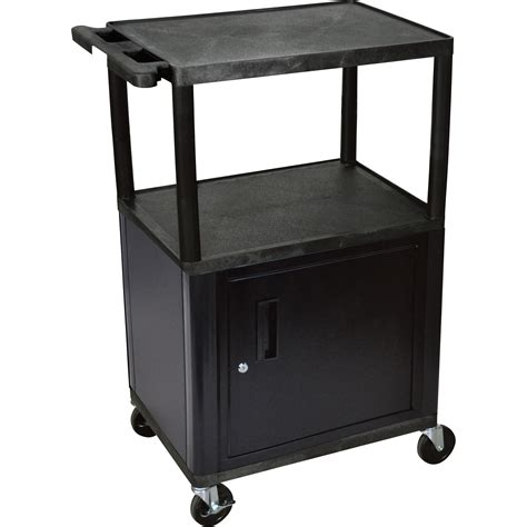 luxor cart with locking cabinet luxor utility cart with locking steel cabinet 400 lb