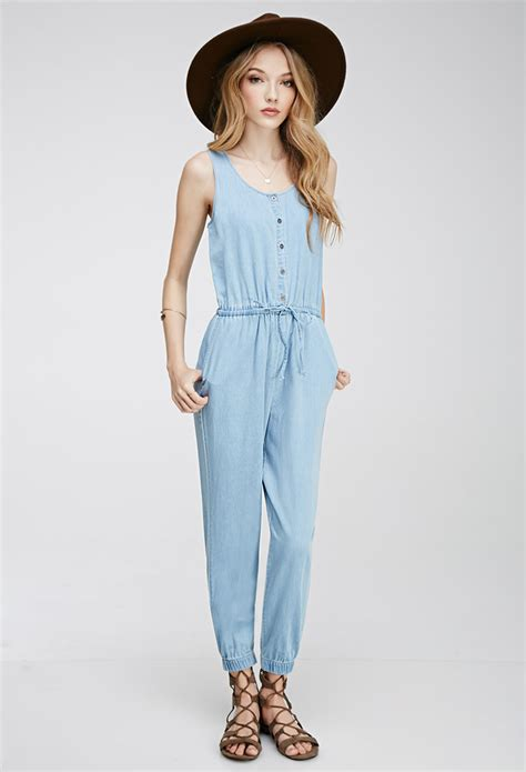 Jumpsuit Light Jumsuit Overall light blue denim jumpsuit fashion ql
