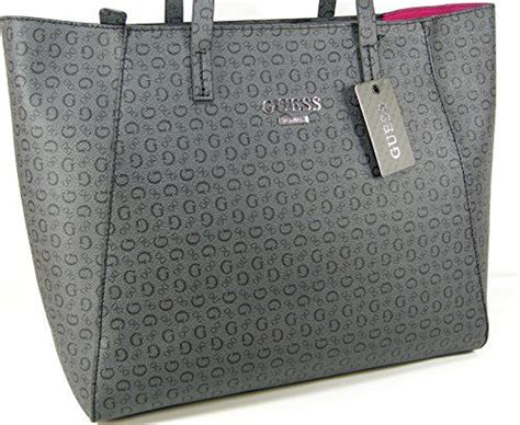 Couture Guess Who Bodyguard With The Couture Purse by New Guess G Logo Purse Tote Large Shoulder Bag Coal