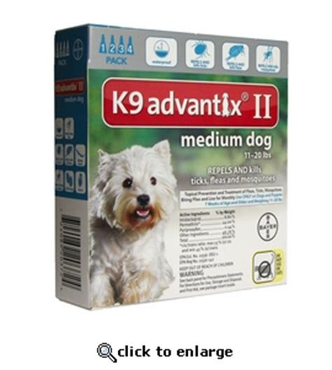 k9 advantix for dogs 11 20 lbs k9 advantix ii teal for dogs 11 20 lbs 4 pack