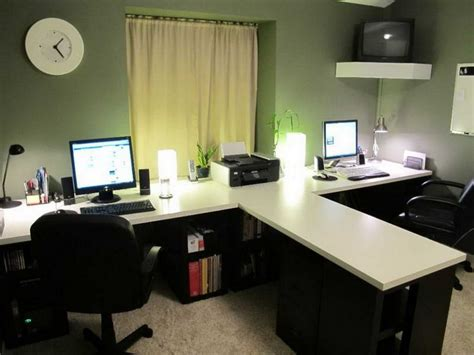 Two Person Office Desk 2 Person Desk For Home Office Home Furniture Design