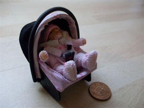 baby doll car seat carrier dolls house ooak sculpt baby car seat baby carrier
