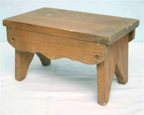 Small Wooden Step Stool by Small Wood Child Step Stool Foot Stool Vintage Handcrafted