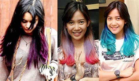 tutorial ombre rambut ungu warna cat rambut ungu hitam pilihan warna rambut untuk