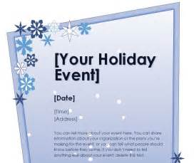holiday flyer template holiday party flyer template