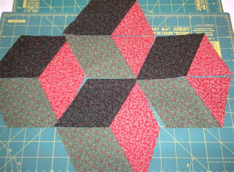 Free Tumbling Blocks Quilt Pattern by In The Scrapatch Easy Tumbling Blocks Tutorial
