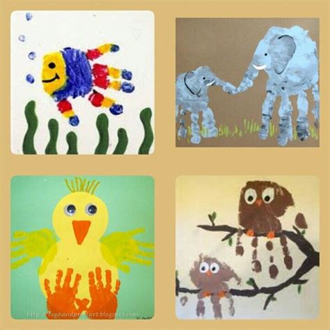 la arts and crafts 8448611756 tiere handabdruck zuk 252 nftige projekte enten kind und h 228 nde