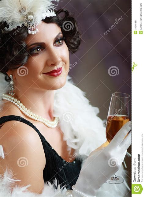 pictures of middle age flappers lady from roaring 20s stock image image of holder makeup