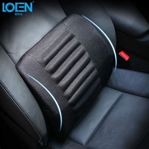 car seat mesh lumbar back brace support cushion 1pcs breathable mesh cloth car seat back cushion pillows
