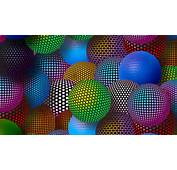 3D Neon Balls Wallpaper For Desktop 1920x1080 Full HD