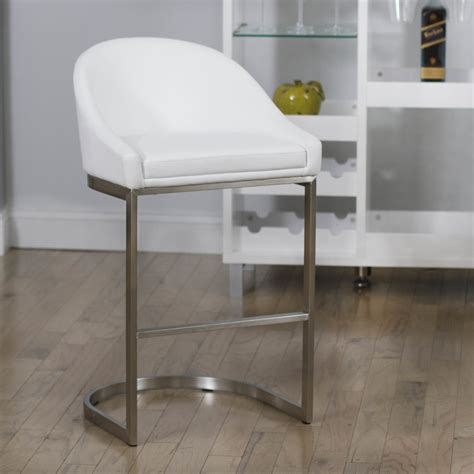 basilio modern white bar stool popular 254 list contemporary white bar stools