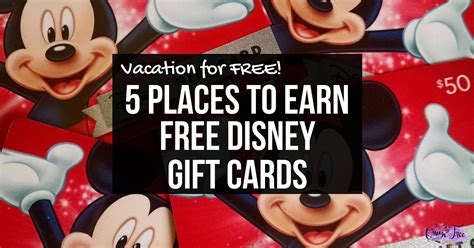 Can You Use Disney Gift Cards For Food At Disneyland - earn free disney vacation gift cards queen of free