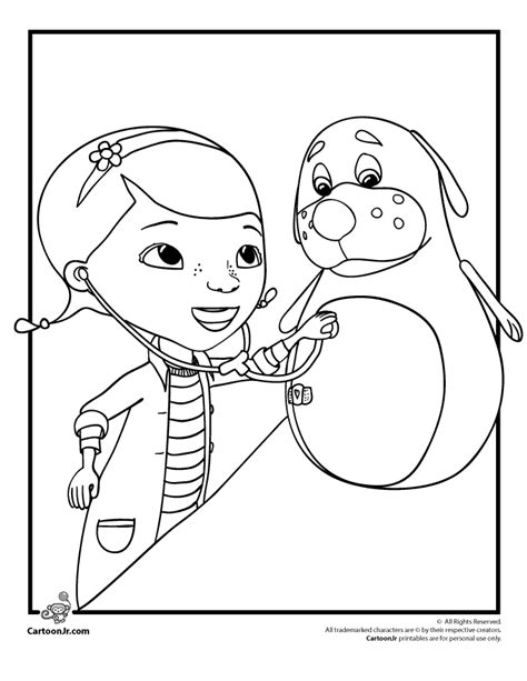 doc mcstuffins color page az coloring pages