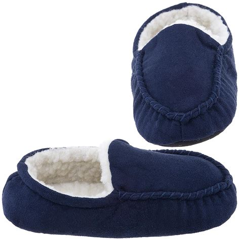 navy moccasin slippers navy moccasin slippers for toddler boys