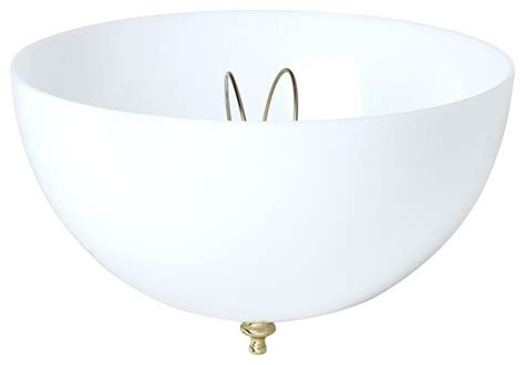 contemporary white acrylic dome clip on ceiling shade