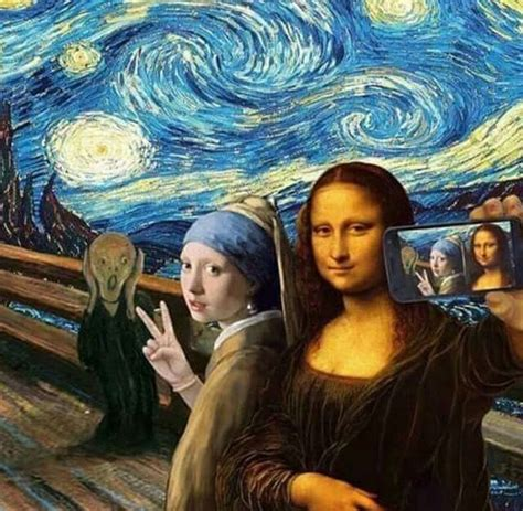 the modern classic from selfies to substance a s guide to holding own in this modern world books selfie with the scream mona with a pearl