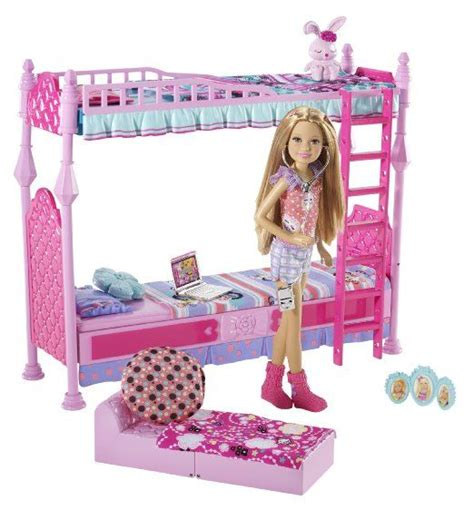 barbie doll house games for girls amazon com barbie sisters sleeptime bedroom and stacie