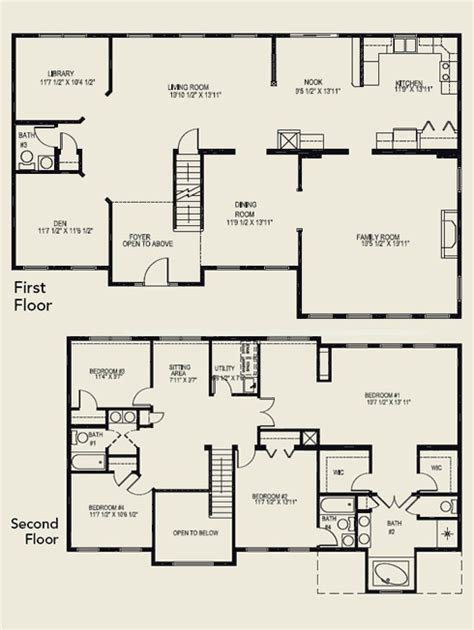 4 bedroom 2 story floor plans 4 bedroom 1 story house plans bedroom ideas pictures