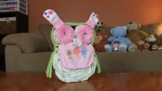 owl diaper cake how to make youtube