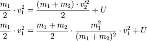 innere energie berechnen unelastischer sto 223