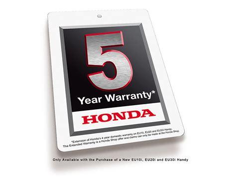 5 year extended warranty the honda shop