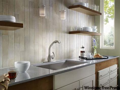 no backsplash in kitchen backsplash ideas no cabinets the fusion kitchen winnipeg free press homes home