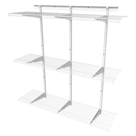 closetmaid shelf kit shelftrack 4 adjustable shelf kit closetmaid target