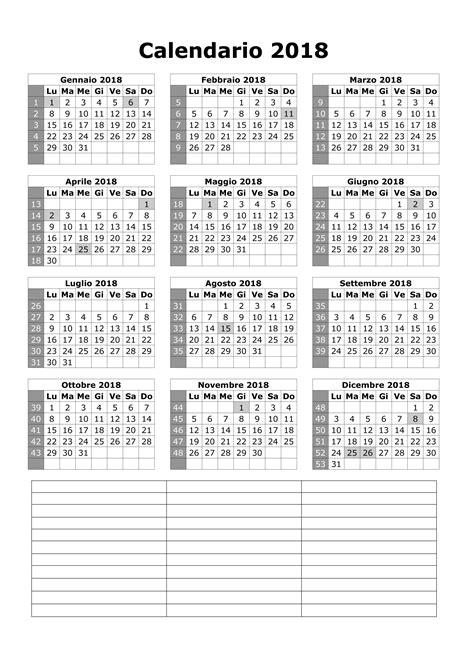 Calendario 2018 Con Festività Italiane Calendario 2018