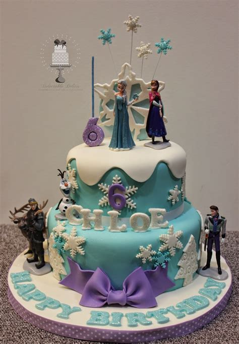 delectable delites frozen cake  choles  birthday