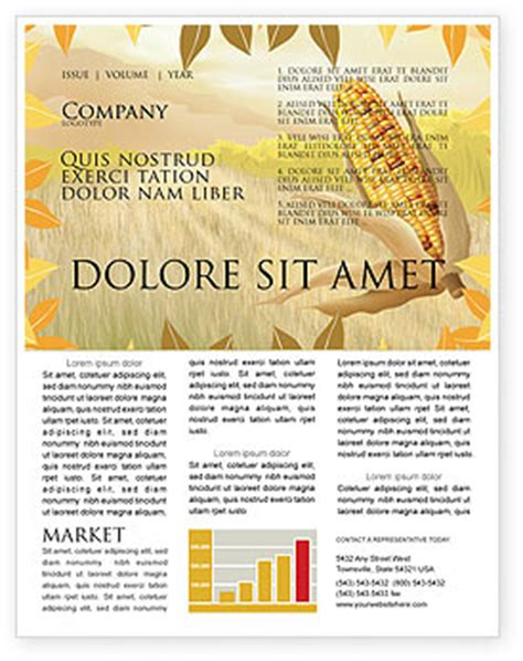Free Corn Thanksgiving Newsletter Template For Microsoft Word Adobe Indesign 02821 Download Thanksgiving Newsletter Template Free