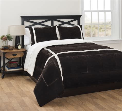 sherpa comforter reviews chocolate royal plush reverse to sherpa comforter set
