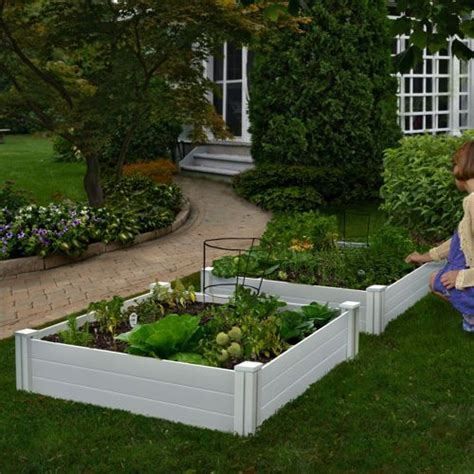 costco raised bed white vinyl raised garden bed 2 pack costco 5 stars backyard beauty pinterest