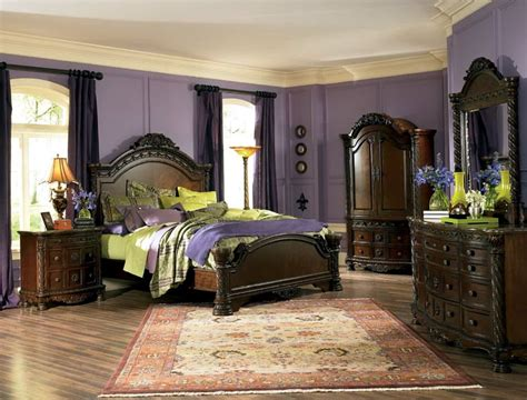 ashley sleigh bedroom set opulent north shore bedroom set furniture ashley north