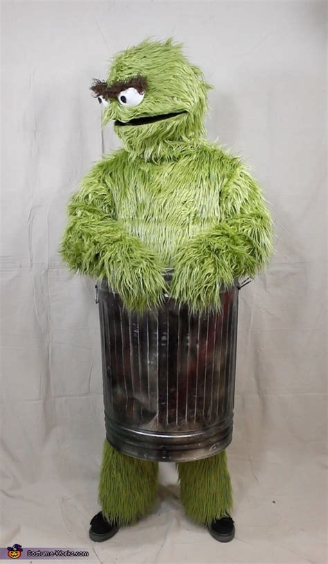 oscar  grouch adult costume step  step guide